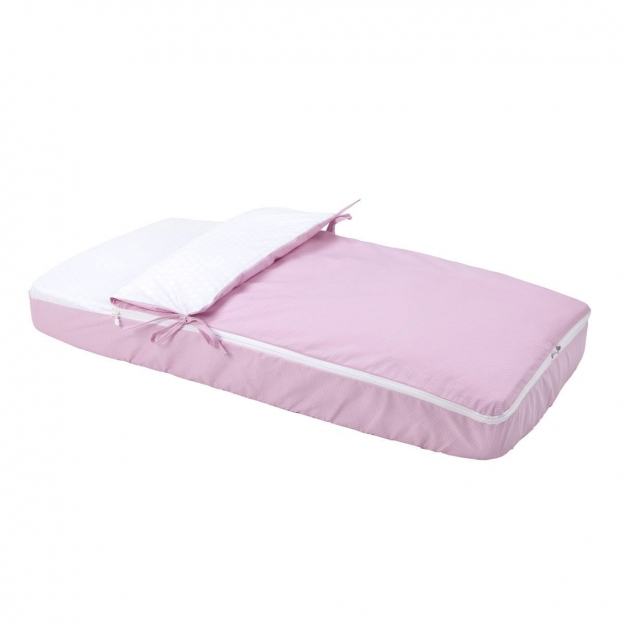 NEST FITTED W/S PIC PINK 60x120 CM