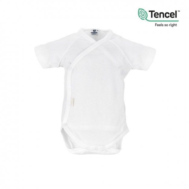 BODY SHORT SLEEVE CROSSED I. TENCEL WHITE