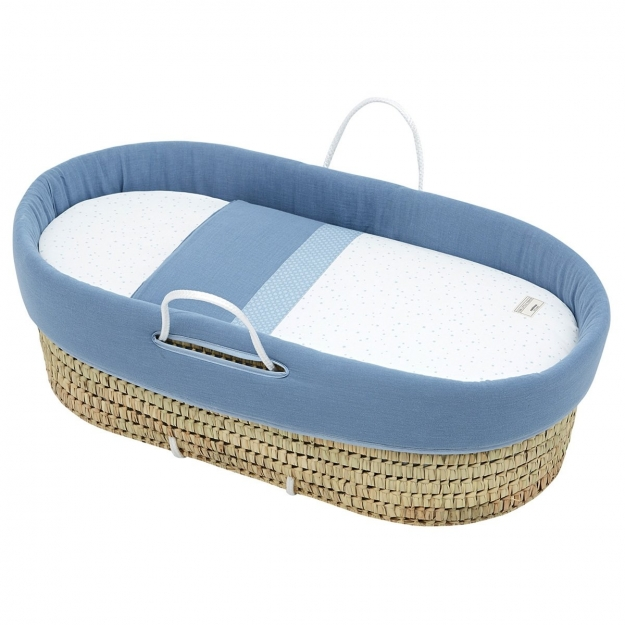 QUILTED BASKET UNE ASTRA BLUE 39x80x25 CM