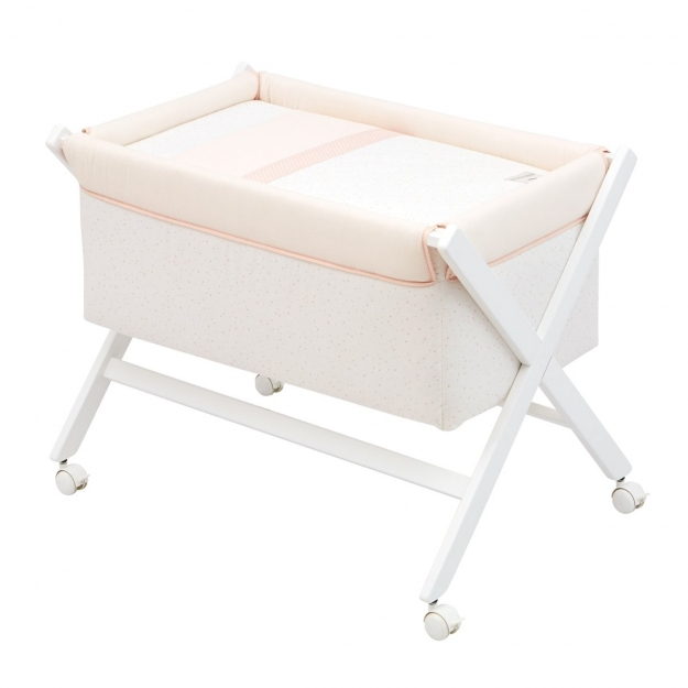 SMALL BED X WOOD UNE ASTRA PINK 55x87x74 CM
