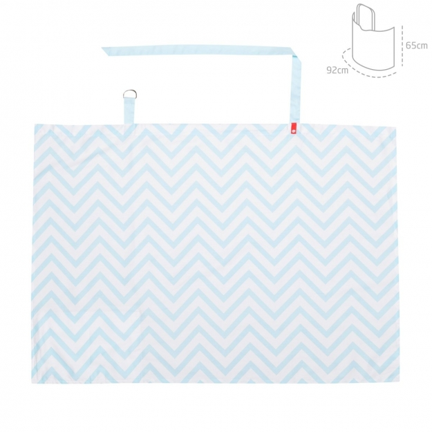 DISCRET FEEDING BE ZIGZAG BLUE 92x65 CM