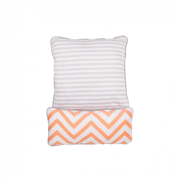 SET 2 PILLOW .. BE ZIGZAG CORAL