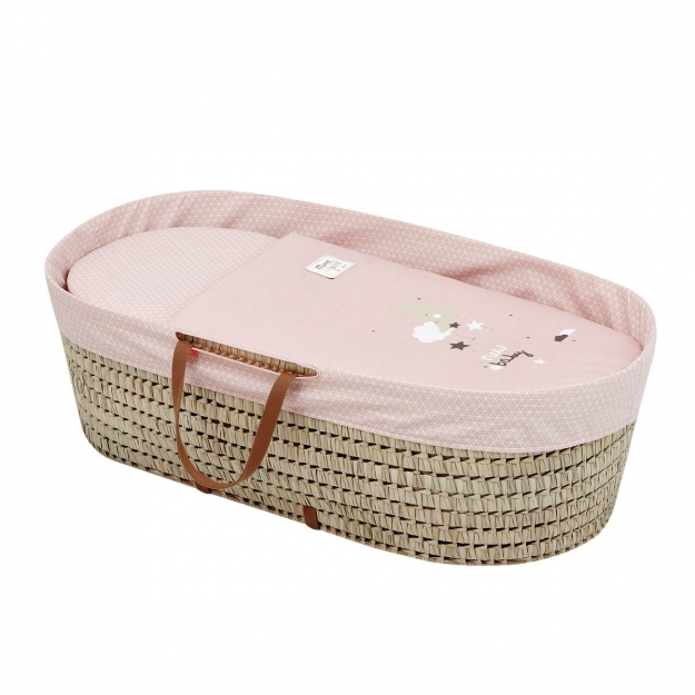 MOSES BASKET UNE BE MOON PINK 39x80x25 CM
