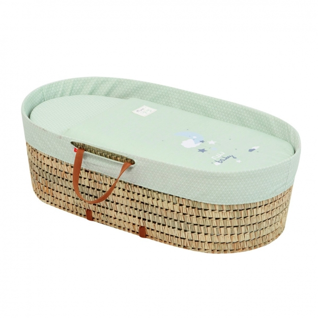 MOSES BASKET UNE BE MOON GREEN 39x80x25 CM