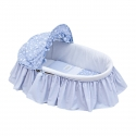 BASKET WITH FRILLS + HOOD UNE STAR BLUE 39x80x25 CM