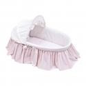 BASKET WITH FRILLS + HOOD UNE STAR PINK 39x80x25 CM