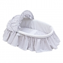 BASKET WITH FRILLS + HOOD UNE STAR GREY 39x80x25 CM