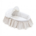 BASKET WITH FRILLS + HOOD UNE STAR BEIGE 39x80x25 CM