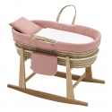 QUILTED BASKET MIO CUCO+W.STAN COLORADO PINK/DOT 49x86x61 CM