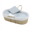 QUILTED BASKET UNE FOREST BLUE 39x80x25 CM