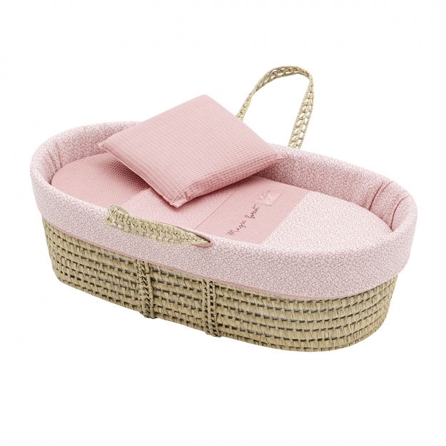 QUILTED BASKET UNE FOREST PINK 39x80x25 CM