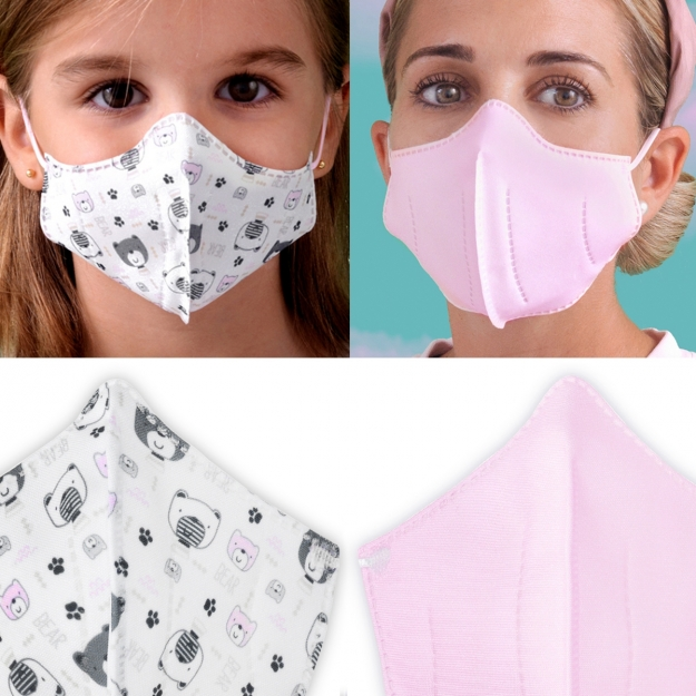 HIGYENIC MASK DELUXE 2 UN. OSITOS PINK